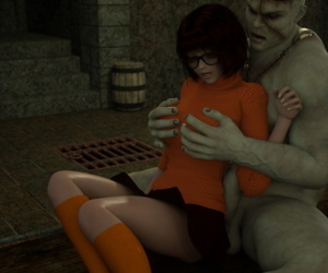 manga Velma Halloween, velma dinkley , monster , muscle  bald
