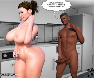 manga Father-in-Law at Home 4, dark skin , big penis  big-penis