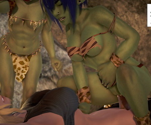 manga BlueGirl91 GoblinLayer! 3D, uncensored  monster